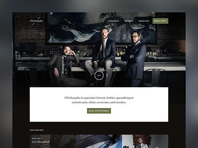 1701 Bespoke minimal clothing bespoke fashion web design web