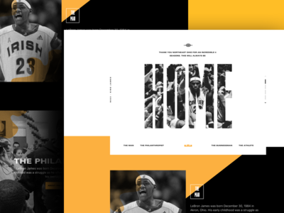 BronBron photography typography graphic design lebron james ux ui basketball lebron