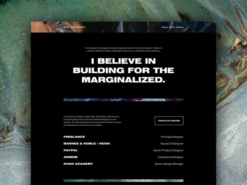 Portfolio Update unsplash typography texture photography portfolio