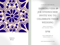Wedding Invitation talavera mexican save the date wedding invitation invitation wedding