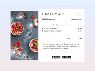 Daily UI 017 e-commerce purchase email 017 receipt daily ui