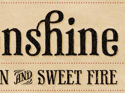 Firewater Moonshine Label typography print label design donaldson james type serif logo