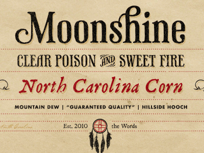 Firewater Moonshine Label firewater fire water moonshine label print package logo branding donaldson