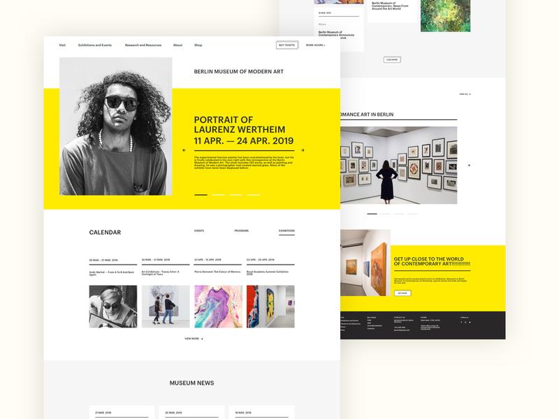 Modern Art Museum Website by Kristina Bumbak on Dribbble