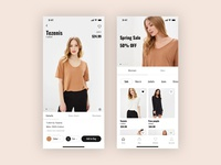 E-commerce mobile UI/UX design