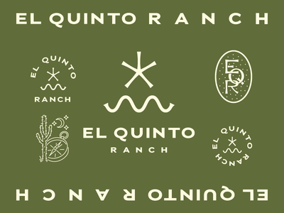EL QUINTO RANCH BRANDING illustration typography monogram logomark logo branding