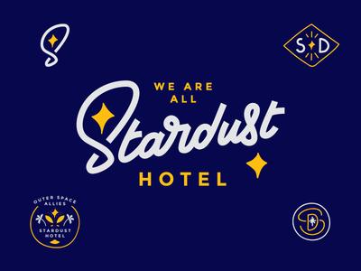 We Are All Stardust Hotel Branding mock stardust hotel hotel branding