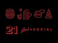 21 Grub & Social Dribbble