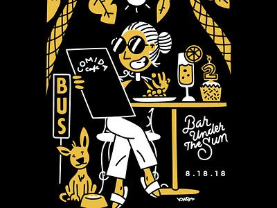 Comida Radio 2 Year Anniversary Illustration vector comida poster illustration
