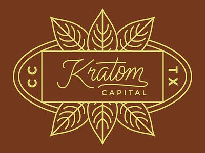 Kratom Capital Logo branding logo typography handlettering