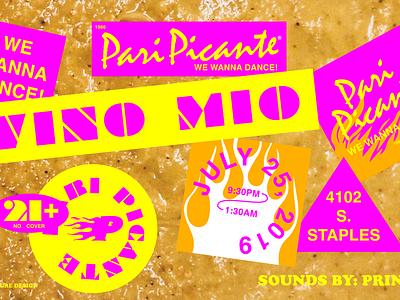 Pari Picante Promo ZOOM type branding typography
