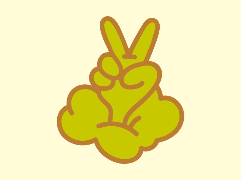 Peace Sticker typography illustration