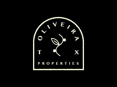Oliveira Properties TX Branding logomark logo design branding