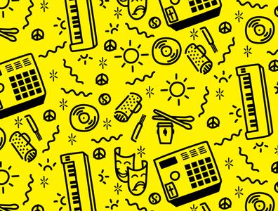 americano label letterhead background wallpaper music illustration doodle