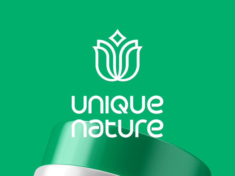 Unique Nature | Identity spa wellness nature natural identity behance typography mark icon vector design branding logo