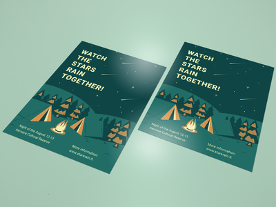 Camp flyer poster marketing advertise landscape graphic desgin flyer flat abstract card art design drawing illustration illustrator vector