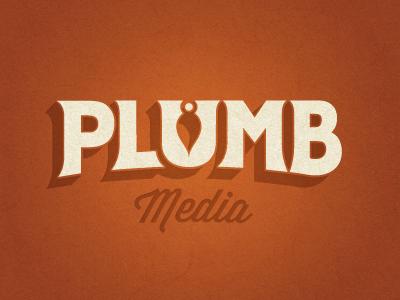 Plumb Logo logo custom typography red plumb plumb bob vintage logo