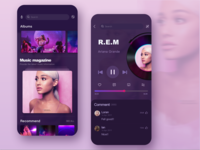 This music app is my first dribble, hope you like it ~💜😉