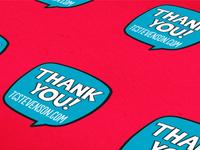 Thank You! Sticker