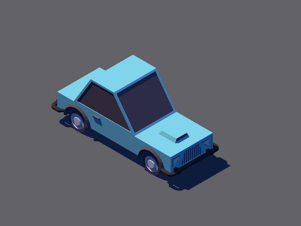 car lowpoly 3d model car 3d car model car care vehical car