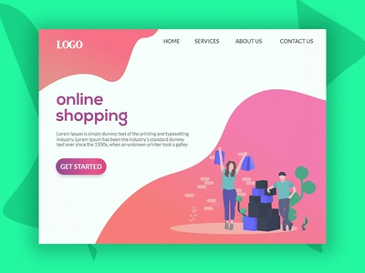 Online shopping-(Landing Page)
