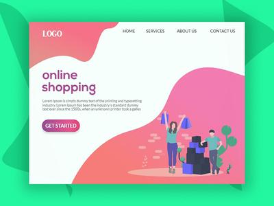 Online shopping-(Landing Page)
