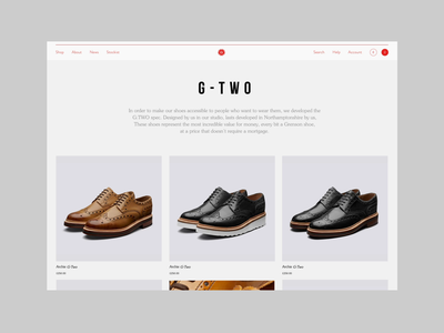 Grenson Landing Page | Product Grid boots shoes app product product design grid layout grid shoes typography video uiux motion animation ux e-comerce shop interface website web ui