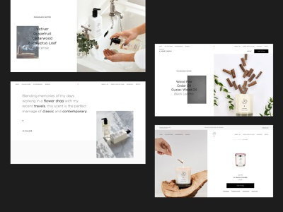 Jo Loves, Fragrance eCommerce | Product Page candle clean minimalist beauty fragrance scent rollover product page product webdesign uiux product design eshop ux e-comerce shop interface website web ui