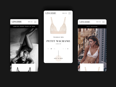 Lingerie Mobile Shopping Experience