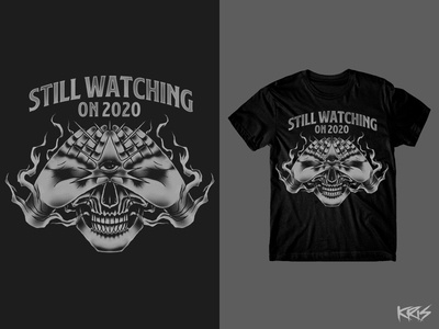 Still Watching (Design for Sale) designforsale silkscreen print shirt branding tshirtdesign clothing tshirt silkscreen brand artworkforsale