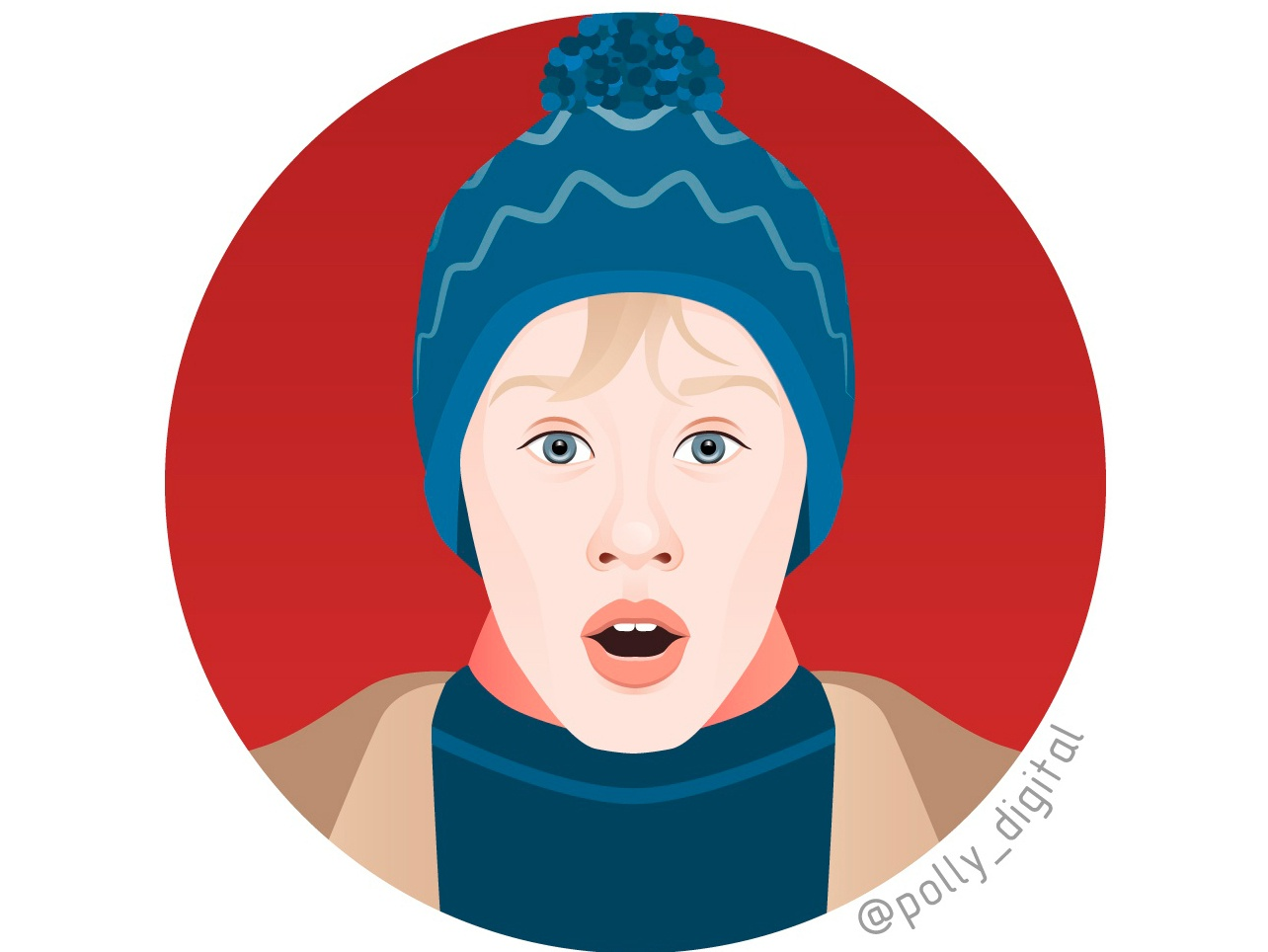 Macaulay Culkin, Home alone web artist home alone macaulay culkin actor portait illustrator illistration digital art vectorportrait vector art vector
