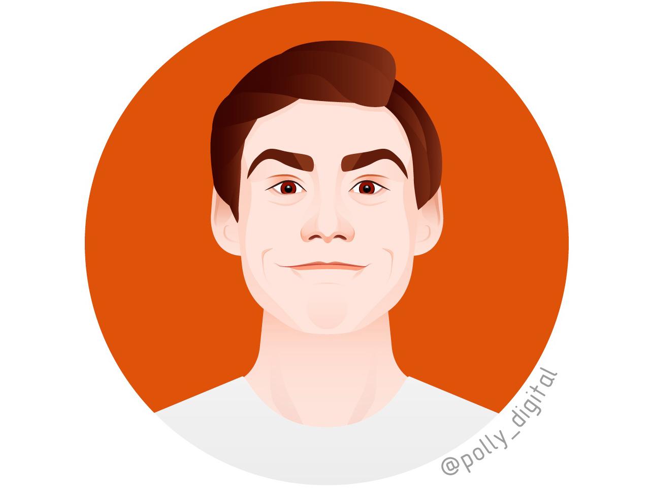 Jim Carrey portrait design portait vector vectorportrait art digital illustrator illistration artist actor