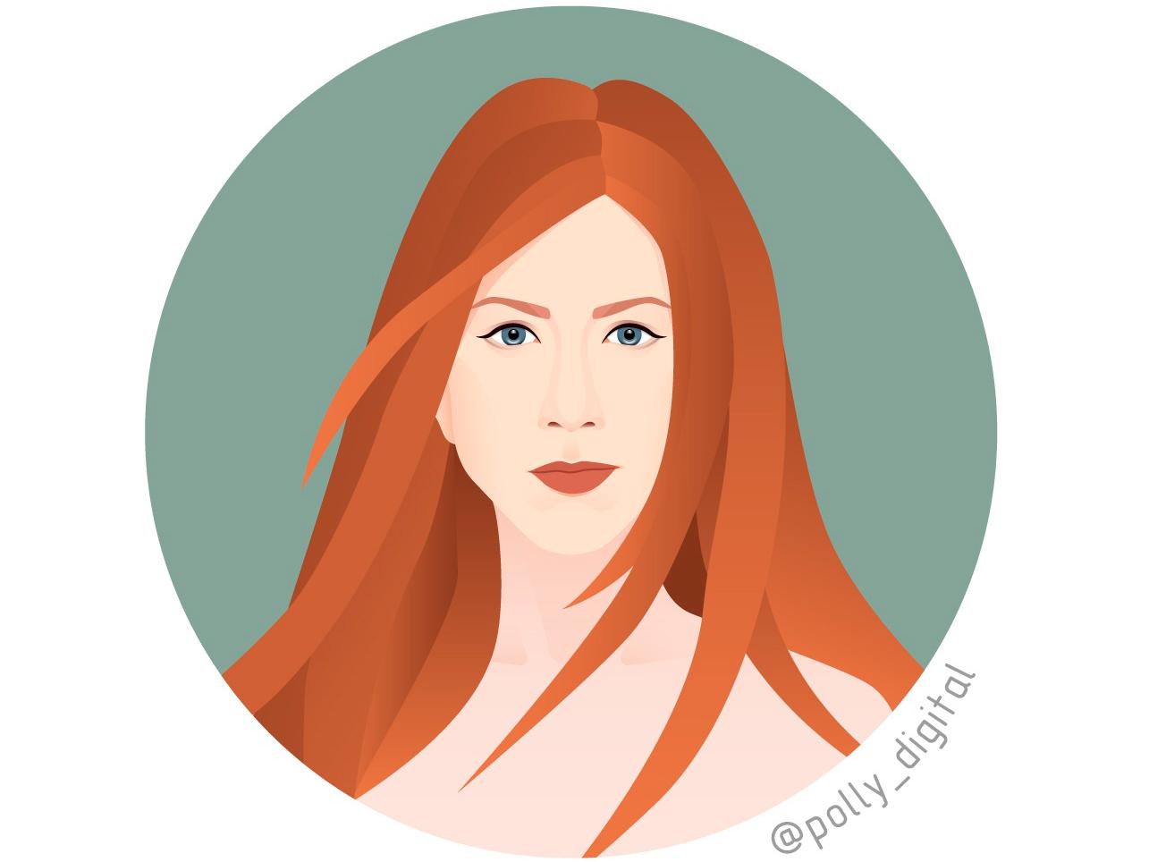 Jennifer Aniston portrait design digital vector art actor art artist illistration vector vectorportrait portait illustrator
