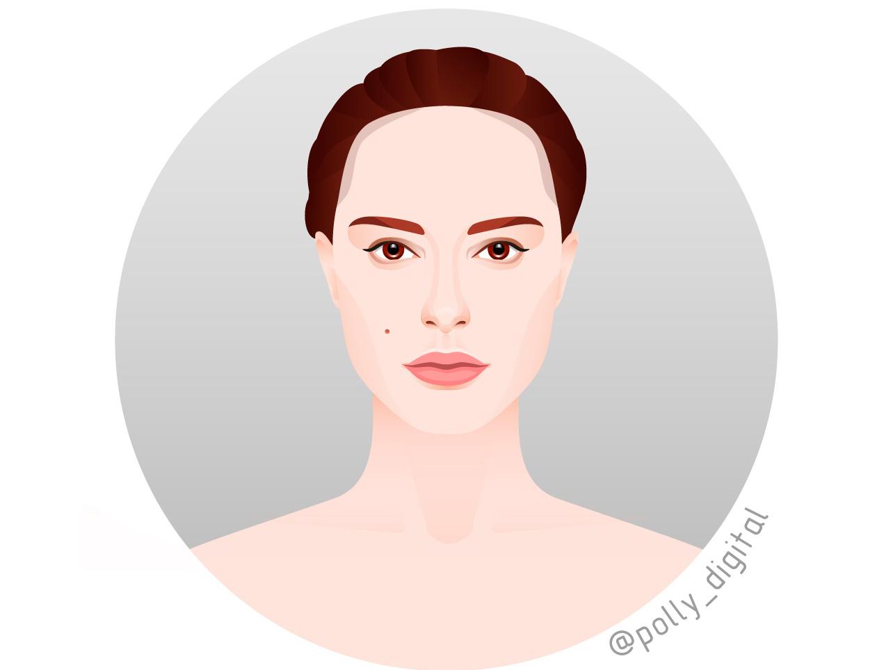 Portrait of Natalie Portman портрет web actor art artist digital vector vectorportrait illistration illustrator portait