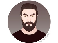 Jason Momoa's portrait