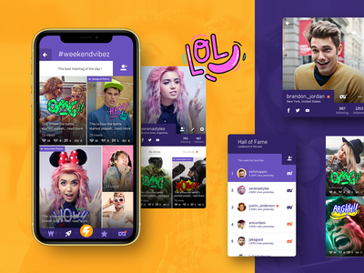 Lomics app appdesigner appdesign comics lomics tiktok young youth teen fun icon website typography illustration uiux branding layout nice design ux ui