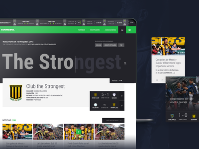 Conmebol Website greens web design concept search engine search bar ui design ui  ux sport soccer futbol graphic design uiux web branding website nice design ui ux layout