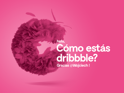 Hello Dribbble nice pink hola fur debut hello