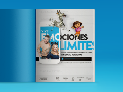 Viacom App: Graphic Ad advertisement digital layout nice nick mtv blue editorial print magazine