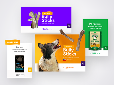 Chewy e-shop layout web website ux ui eshop colors animal dog boxes