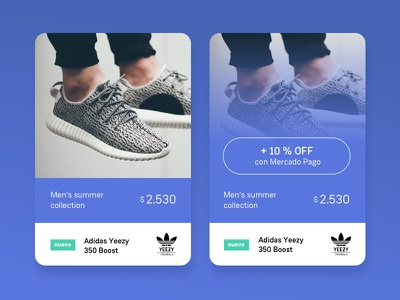 E-commerce Product Screen nice pago mercado adidas web design shoes e-commerce blue layout ux ui