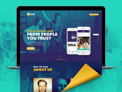 Tril App Website interface music tril color cool nice website design app layout ux ui