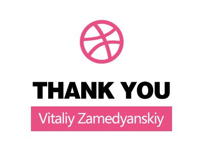 Thank you Vitaliy Zamedyanskiy invitation