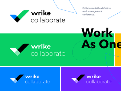 Wrike Collaborate – Logo collaboration logotype typography idenity graphic logo illustration brand design branding wrike
