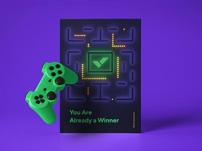 Wrike Gaming Room Poster game vector poster 3d brand illustration design branding wrike