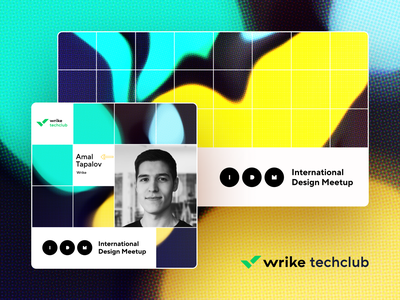 Wrike Design Meetup –Social Media Graphics event graphic poster typography illustration brand design branding wrike