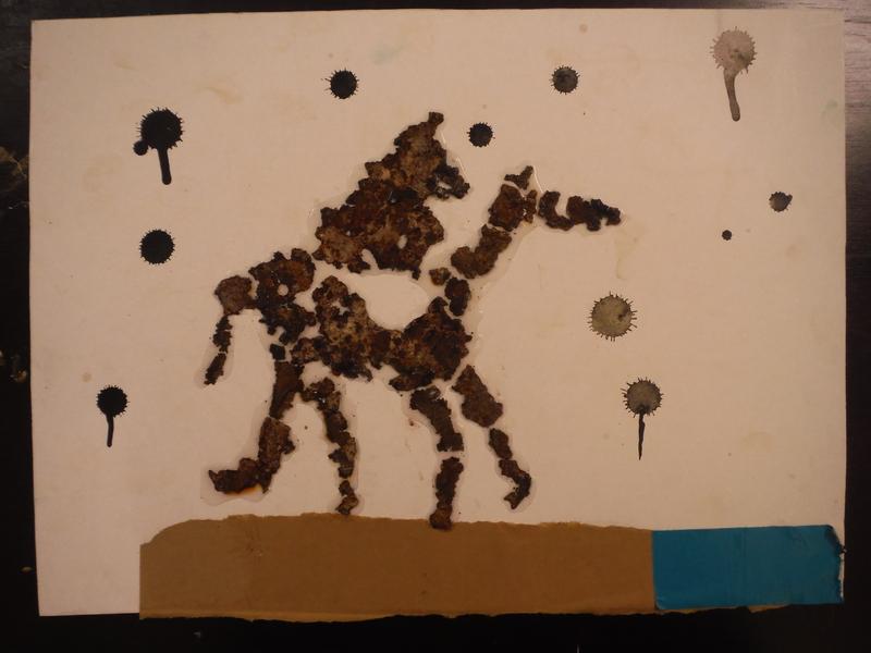A Starlit Waterhole Trip mixed media abstract