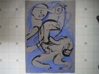 Untitled Blue Drawing