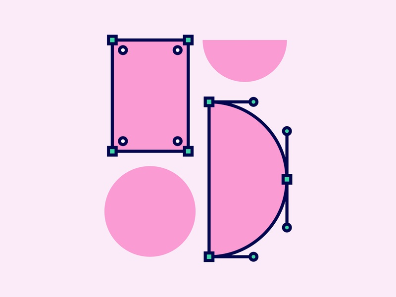 5 icons process typography icon vecotr type design