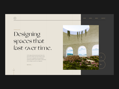 Archill - Layout Exploration blender 3d blender architectural architechture architect architecture typography branding logo ux ui
